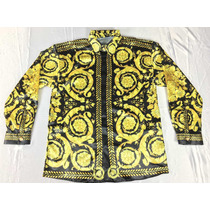 Camisa De Seda Gianni Versace Para Hombre Talla M-l Versace