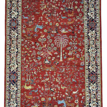 Alfombra / Tapete Tree Of Life Design Hand-knotted Pure Wool