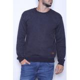 Sweater Cuello Redondo Jacard Con Bordado Bravo Jean (28054)