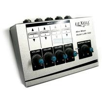 Mixer Consola 4 Canales P/ Microfonos Apto Publicidad Luxell