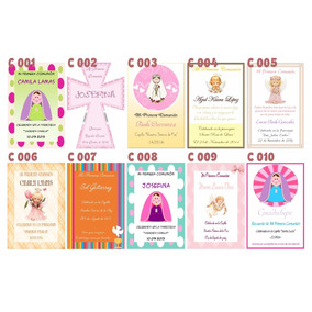50 Tarjetas Estampitas Comunión/confirmación Nena