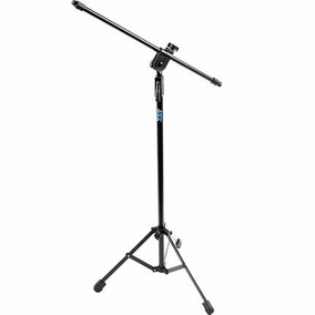 Pedestal Suporte Duplo Ask Metallic Preto P/ Microfone - Mgp