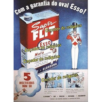 Placa Decorativa Propaganda Super Flit Esso