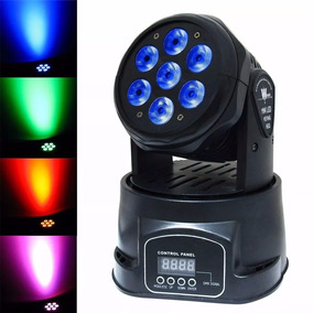 Mini Moving Head Wash 7 Leds 12w Rgbw Dmx Quadriled