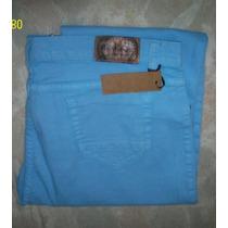 Pantalones Jean Tiro Alto Rectos De Colores T 44 Al 58 $ 700