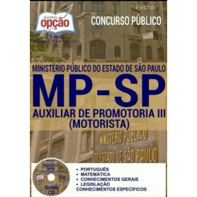 Apostila Mp Sp Auxiliar De Promotoria Iii Motorista Digital