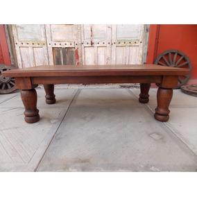 Exclusiva Mesa De Centro Madera De Mezquite Estilo Antiguo.