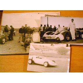 Lote 14 Fotos Antiguas Automovilismo Sport Prototipo 60s 70s