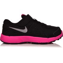 Zapatillas Nenas Nike Revolution 2 Originales Negro/fucsia