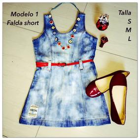 Vestido Jeans Falda Short Tipo Braga
