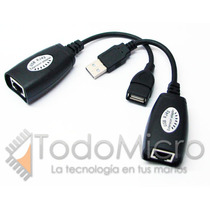 Extensor Usb Activo Alargue Hasta 50m Cable Red Utp Rj45