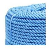 Corda Polietileno Torcido Azul 10mm Rolo 220 Mt