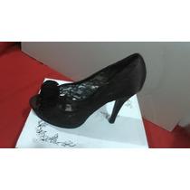 Exclusivos Zapatos Café De Raso Y Encaje Ansonia Café 37