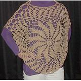 Poncho Calado Tejido Al Crochet