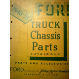 Catálogo/manual De Despiece: Pick-ups Y Camion Ford 1948/51