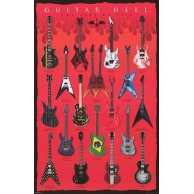 Guitarras Famosas - Guitar Hell, Poster De 90 X 60 Cm