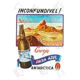 Placa Vintage King Mdf 39x27cm Cerveja Faixa Azul Bc.03204.4