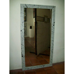 Espejo marco decorativo en tecnica mosaiquismo for Espejo marco gris