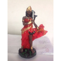 Iansã Orixá Africano Estatua Imagem Escultura 20cm