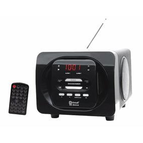 Mini Speaker Estéreo Radio Relógio Visor Led Dc-s034 Dotcell