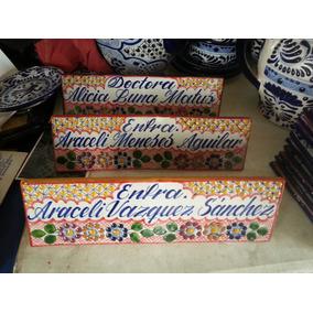 Placas De Presentacion Para Escritorio Talavera Puebla