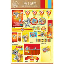 Kit Imprimible Personalizado Tom Y Jerry Deco Y Candy Bar !