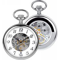 Relógio De Bolso Royal London Ref: 90002-01 Esqueleto