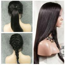 Peruca Full Lace 100% Natural Humana Wig Ultra Realista
