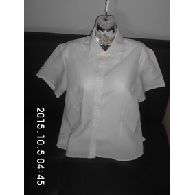 Blusa Camisa Manga Corta Unicolor Para Uniforme Talla Plus