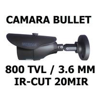 Cámara Cctv Bullet Meriva 800tvl 24 Leds Ip66 Seguridad