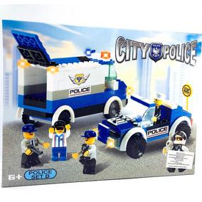 Mini Bloques Juguetes Policia Armar Rompecabezas Niño