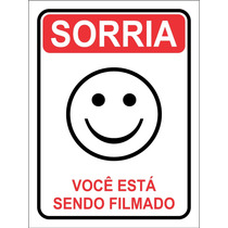 Sorria Você Está Sendo Filmado - Adesivo De Advertência - Un