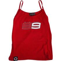 Camiseta Regata Jorge Lorenzo 99 Feminina Vermelho P(s) Rs1