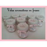 10 Velas Souvenirs Personalizadas Bautismo, Comunion Frasco,