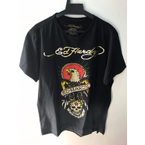 Camiseta Tshirt Ed Hardy Masculina Christian Audigier Preta