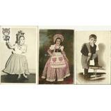 Lote X 3 Fotos Niños Disfrazos Gaucho Dama Latina Antigua