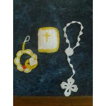 Denario Tejido Al Crochet .souvenirs De Comunión