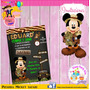 Mickey Safari.. Invitacion Pizarra!!! Preciosa!!