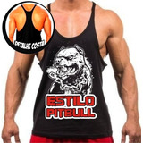 Camiseta Regata Cavada Masculina Estilo Pit Bull Oferta Top