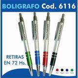 100 Lapiceras Boligrafos Personalizados Logo Codigo 6116