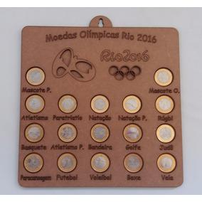 Quadro Coleção Moedas Olimpíadas Com Mdf De Parede 10 Un