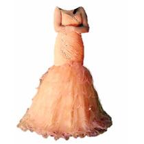 Vestido Sereia Longa Com Calda Festa, 15 Anos Pronto Entrega