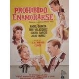 Poster Pelicula Prohibido Enamorarse Año 1961 Original