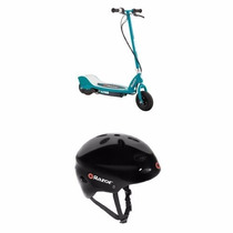 Patin Razor E200 Electric Scooter And Helmet