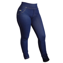 Calça Legging Jeans - Blue Jens / Black Jeans