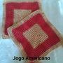 Jogo Americano Em Crochê Kit 2und