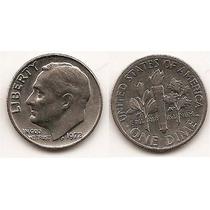 Moneda Estados Unidos One 1 Dime 10 Centavos Año 1972(#)