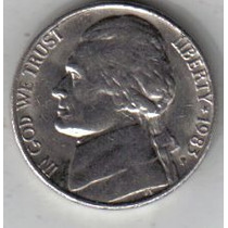 Estados Unidos Moneda De 5 Cents Año 1983 P !!