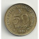 Moneda Argentina 50 Pesos Año 1981 San Martin Sin Circular