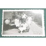 Fotografia Antigua Original Automoviles Camiones Familia 1